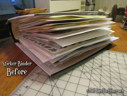 Stickers and Transfer Binder Organization