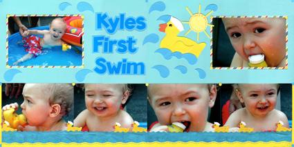 "Scrapbook Page ""First Swim"""