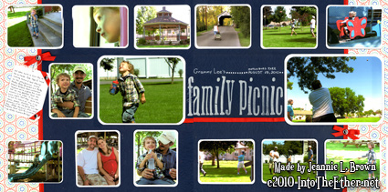 """Scrapbook Page """"Family Picnic"""""""
