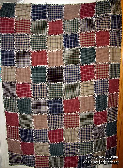 Rag Quilt from Homespun