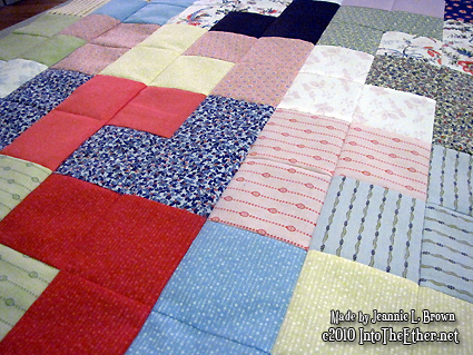 Another day another 7 rows (quilt 1 for 2011)