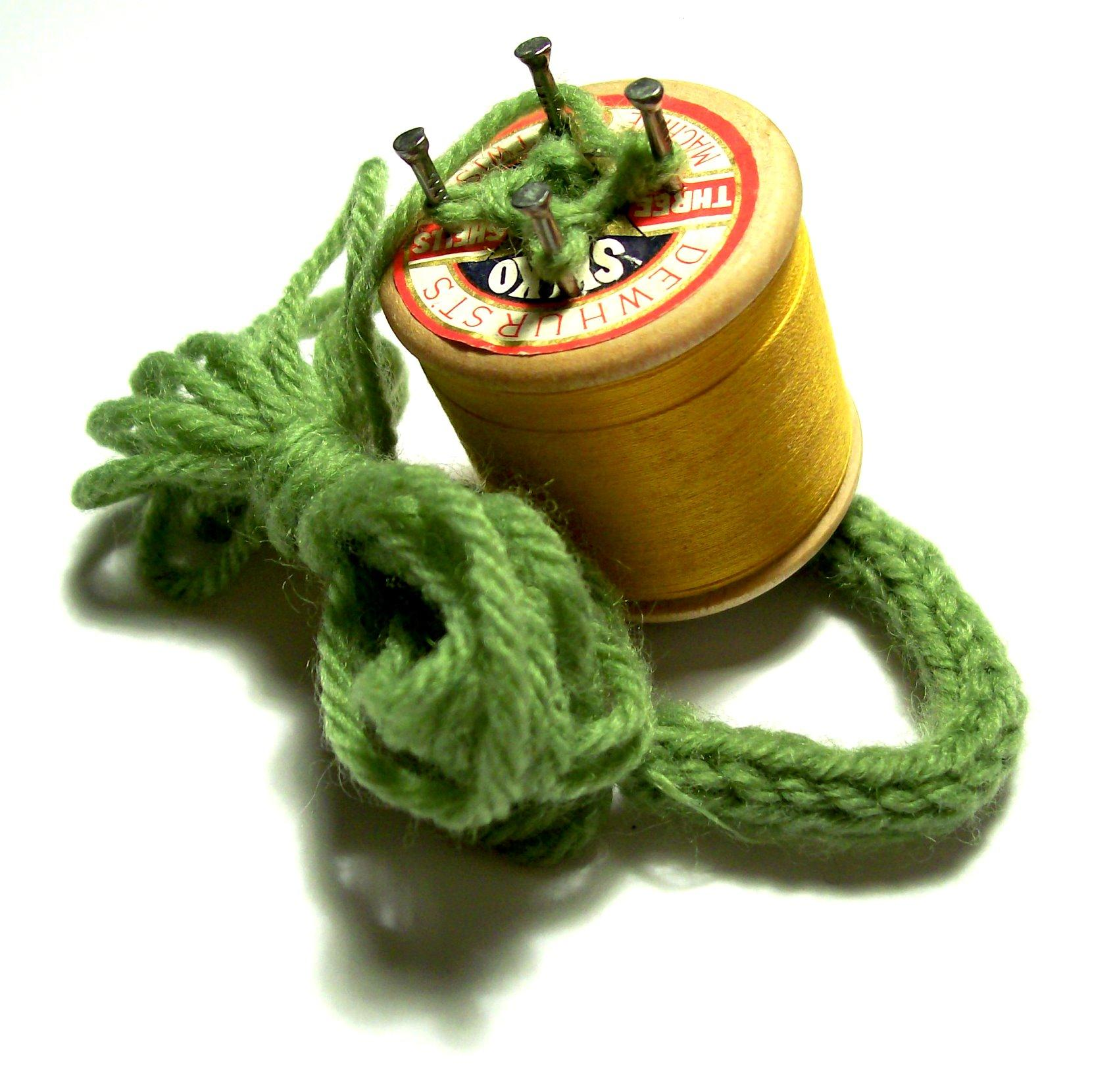 Todays Knifty Knitter Is Yesterdays Spool Loom
