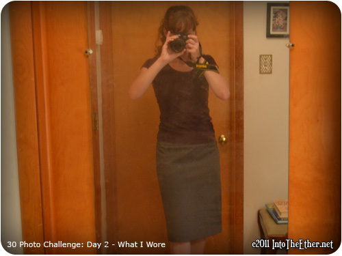 30 Day Photo Challenge: Day 2 What I Wore
