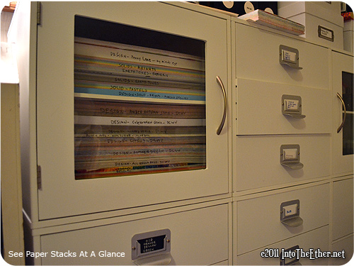 Paper Pad Storage Idea