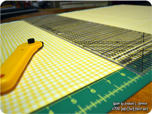 French Country Yellow Gingham Curtains Progress