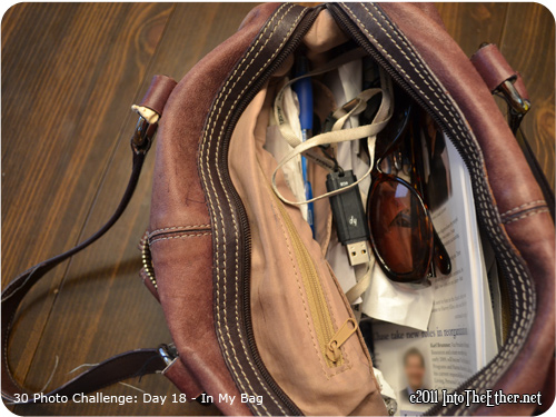 30 Day Photo Challenge: Day 18-In My Bag