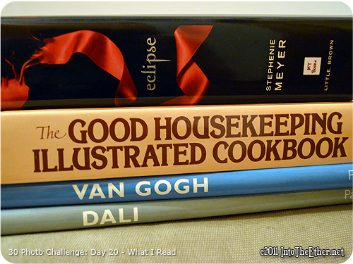 30 Day Photo Challenge: Day 20-What I Read