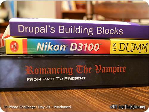 30 Day Photo Challenge: Day 29-Purchased