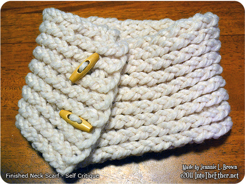 Finished Neck Scarf – Self Critique