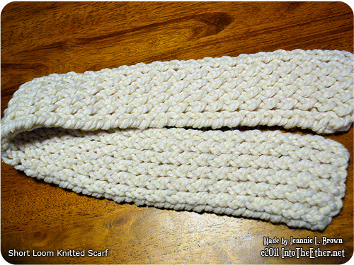 Short Loom Knitted Scarf