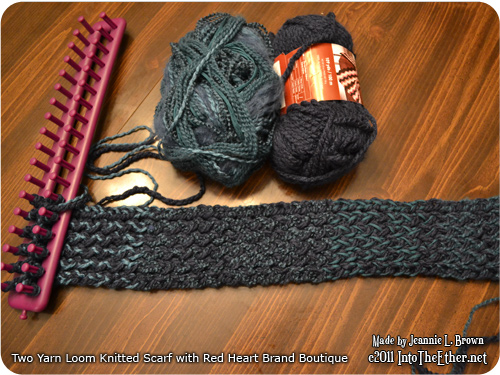 Two Yarn Loom Knitted Scarf with Boutique – WIP