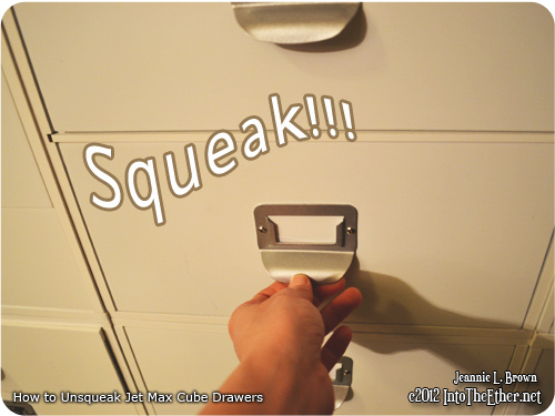 How to Un-squeak Your Jetmax Cube Drawers