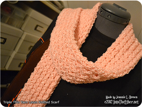 Triple Thin Yarn Loom Knitted Scarf Into The Ether.net
