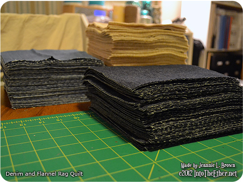 Denim and Flannel Rag Quilt – Stage One