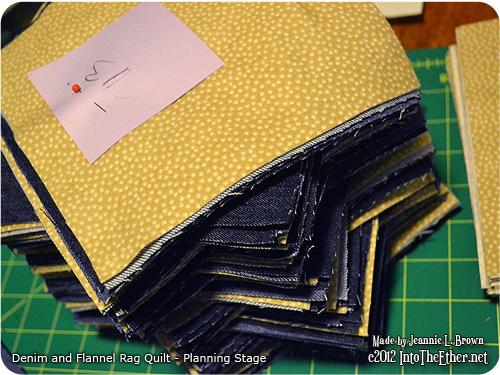Denim and Flannel Rag Quilt – Planning Stage