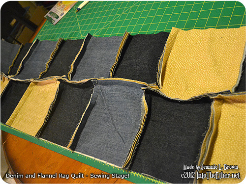 Denim and Flannel Rag Quilt – Sewing Stage!