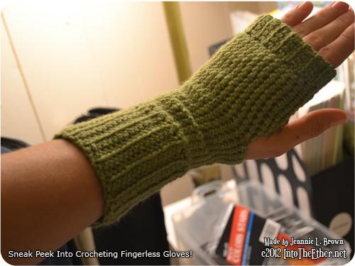 Sneak Peek Into My Crocheted Fingerless Gloves Endeavor!