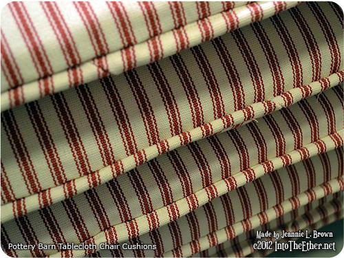 Pottery Barn Tablecloth Chair Cushions