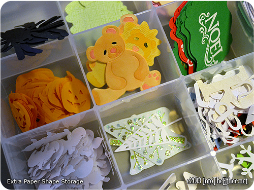 Extra Die-Cut and Paper Punch Storage