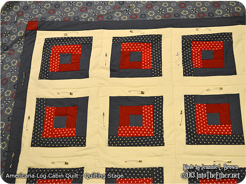 Americana Log Cabin Quilt – Quilting Stage | Into The ...