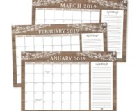 """Rustic 2019-2020 Large Monthly Desk or Wall Calendar Planner, Big Giant Planning Blotter Pad, 18 Month Academic Desktop, Hanging 2-Year Date Notepad Teacher, Mom Family Home or Business Office 11x17"""""""
